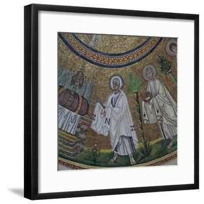 A byzantine mosaic of St Peter, 5th century-Unknown-Framed Giclee Print