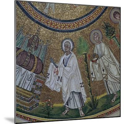 A byzantine mosaic of St Peter, 5th century-Unknown-Mounted Giclee Print
