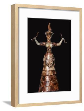 Minoan snake-goddess, 18th century BC-Unknown-Framed Giclee Print