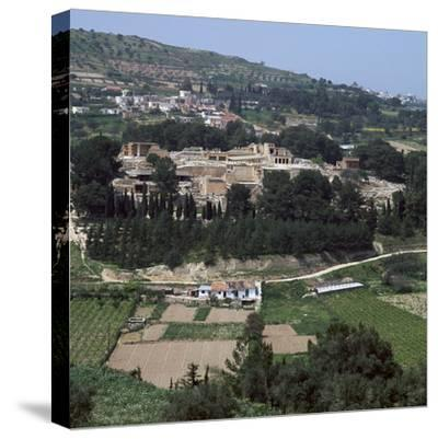 View of the Royal Minoan palace of Knossos, c.1700-1300 BC-Unknown-Stretched Canvas Print