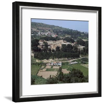 View of the Royal Minoan palace of Knossos, c.1700-1300 BC-Unknown-Framed Photographic Print
