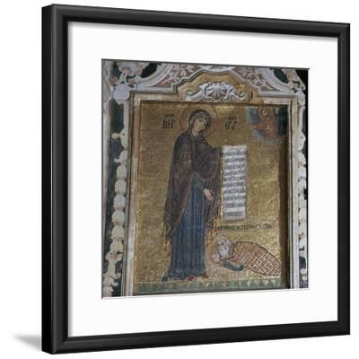A mosaic of George of Antioch before the Virgin Mary, 15th century-Unknown-Framed Giclee Print