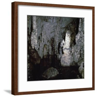 Inside the Diktaen cave-Unknown-Framed Photographic Print