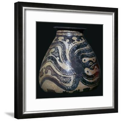 Minoan pot with an octopus motif-Unknown-Framed Giclee Print
