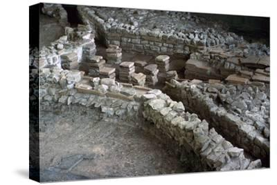 Hypocaust of the Roman Palace at Fishbourne, 3rd century-Unknown-Stretched Canvas Print