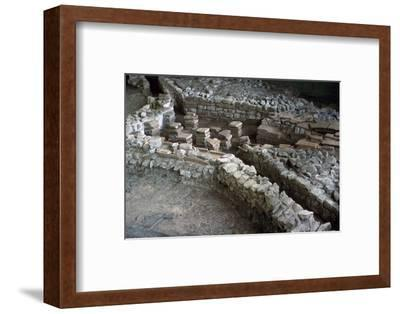 Hypocaust of the Roman Palace at Fishbourne, 3rd century-Unknown-Framed Photographic Print