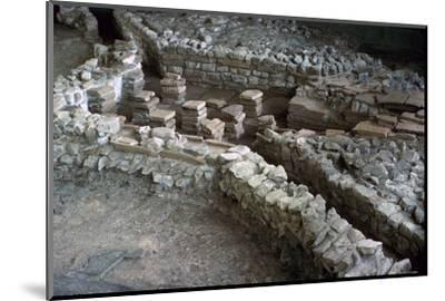 Hypocaust of the Roman Palace at Fishbourne, 3rd century-Unknown-Mounted Photographic Print