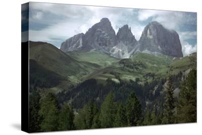 The Sella Pass-Unknown-Stretched Canvas Print