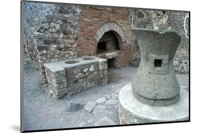 Bakery in Pompeii, 1st century-Unknown-Mounted Photographic Print