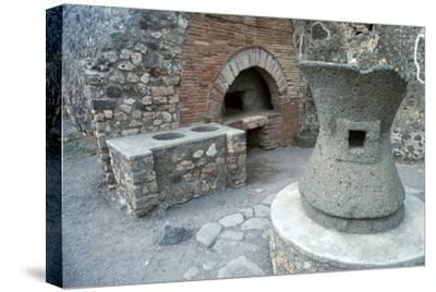 Bakery in Pompeii, 1st century-Unknown-Stretched Canvas Print