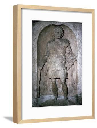 The Roman tombstone of Marcus Favonius Facilis, 1st century BC-Unknown-Framed Giclee Print