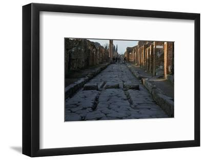 Street in the Roman town of Pompeii, 1st century-Unknown-Framed Photographic Print