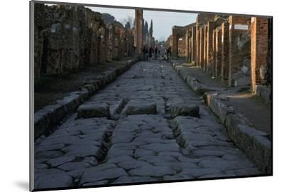 Street in the Roman town of Pompeii, 1st century-Unknown-Mounted Photographic Print
