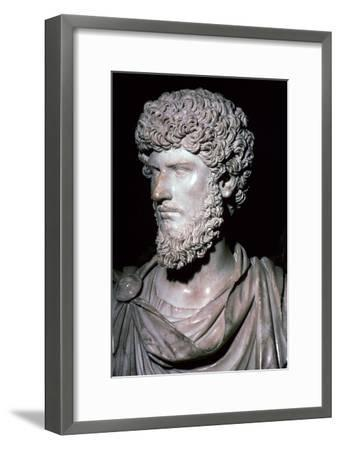 Portrait head of Emperor Lucius Verus-Unknown-Framed Giclee Print