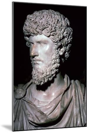 Portrait head of Emperor Lucius Verus-Unknown-Mounted Giclee Print