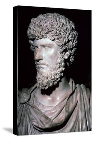 Portrait head of Emperor Lucius Verus-Unknown-Stretched Canvas Print