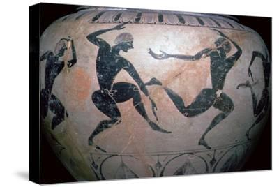 Detail of a Greek vase-Unknown-Stretched Canvas Print