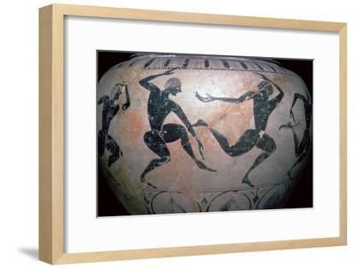Detail of a Greek vase-Unknown-Framed Giclee Print