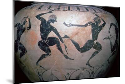 Detail of a Greek vase-Unknown-Mounted Giclee Print