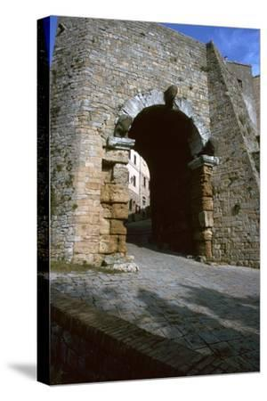 The Etruscan Arch in Volterra, 4th century BC-Unknown-Stretched Canvas Print