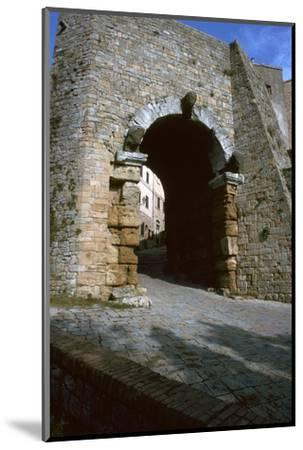 The Etruscan Arch in Volterra, 4th century BC-Unknown-Mounted Photographic Print