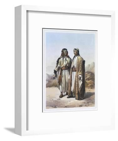 A Mahazi and a Soualeh Bedouin, 1848-Charles Bour-Framed Giclee Print