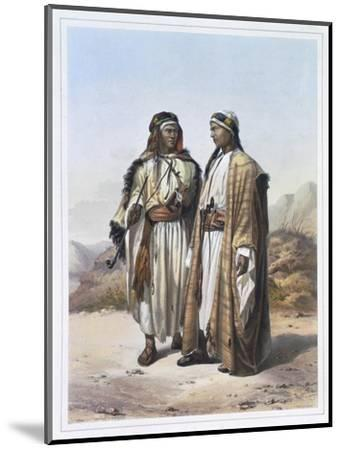 A Mahazi and a Soualeh Bedouin, 1848-Charles Bour-Mounted Giclee Print