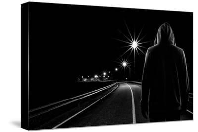 Night Road-Patrick Foto-Stretched Canvas Print