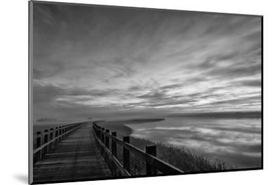 The long wooden footbridge. Dark version.-Leif Løndal-Mounted Photographic Print