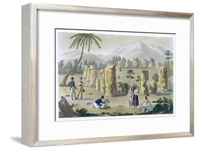 'House of the Ancients, Island of Tinian', c1820-1839-G Bramati-Framed Giclee Print