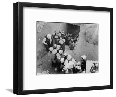 Closing the Tomb of Tutankhamun, Valley of the Kings, Egypt, February 1923-Harry Burton-Framed Photographic Print