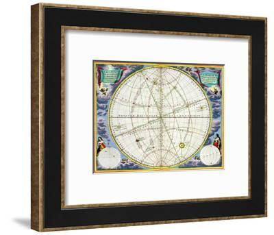 Map charting the movement of the Earth and Planets, 1660-1661-Andreas Cellarius-Framed Giclee Print