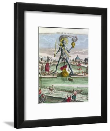 The Colossus of Rhodes, 18th century-Georg Balthasar Probst-Framed Giclee Print