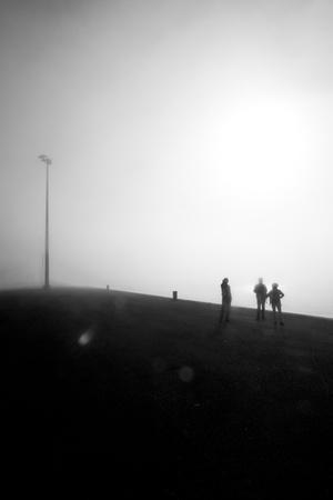 Tourists in the Fog-Guilherme Pontes-Framed Photographic Print