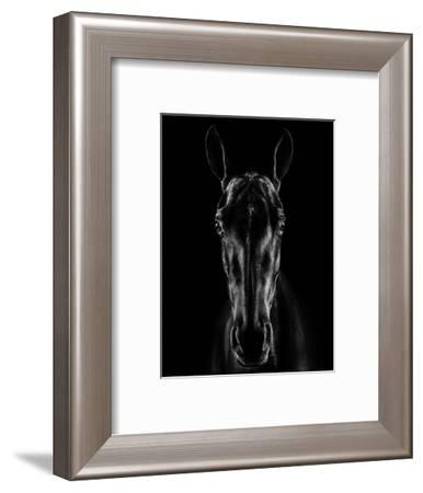 The Horse in Noir-Jackson Carvalho-Framed Photographic Print