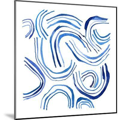 NauWater Swirl    ripples, water, nautical-Robbin Rawlings-Mounted Art Print