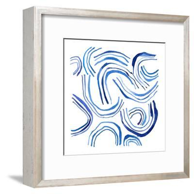NauWater Swirl    ripples, water, nautical-Robbin Rawlings-Framed Art Print