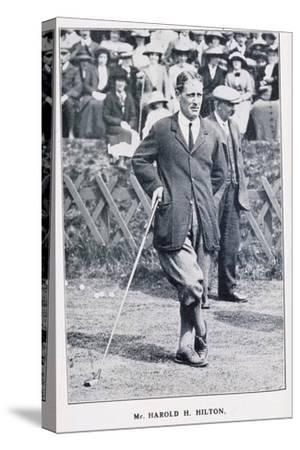Harold H Hilton, golfer, c1900-Unknown-Stretched Canvas Print