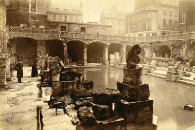 The Roman baths, Bath, 19th century-Unknown-Framed Photographic Print
