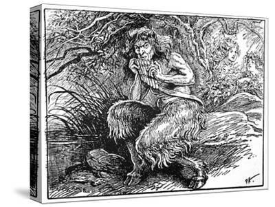 Pan, from 'The Book of Myths' by Amy Cruse, 1925-Unknown-Stretched Canvas Print