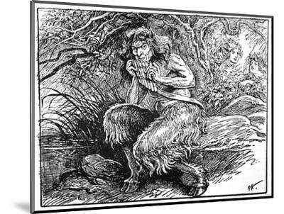 Pan, from 'The Book of Myths' by Amy Cruse, 1925-Unknown-Mounted Giclee Print