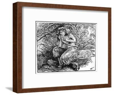Pan, from 'The Book of Myths' by Amy Cruse, 1925-Unknown-Framed Giclee Print