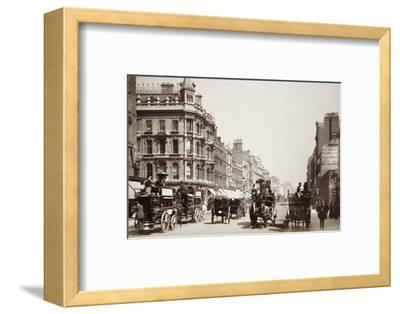 View down Oxford Street, London, 19th century-Unknown-Framed Photographic Print