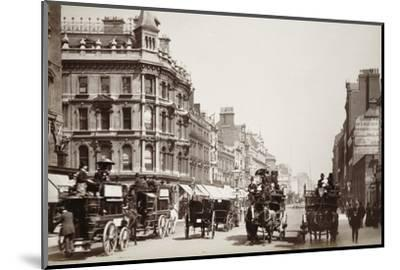 View down Oxford Street, London, 19th century-Unknown-Mounted Photographic Print