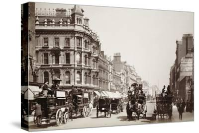 View down Oxford Street, London, 19th century-Unknown-Stretched Canvas Print