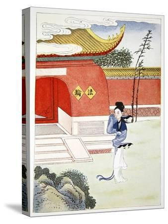 'Miao Shan Reaches the Nunnery', 1922-Unknown-Stretched Canvas Print