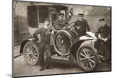 First taxi-cab in Liverpool, Merseyside, 1906-JP Wood-Mounted Photographic Print
