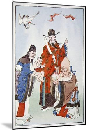 The Gods of Happiness, Office and Longevity, 1922-Unknown-Mounted Giclee Print