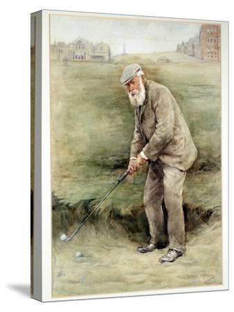 Tom Morris senior, British golfer, portrait, c1910-Unknown-Stretched Canvas Print
