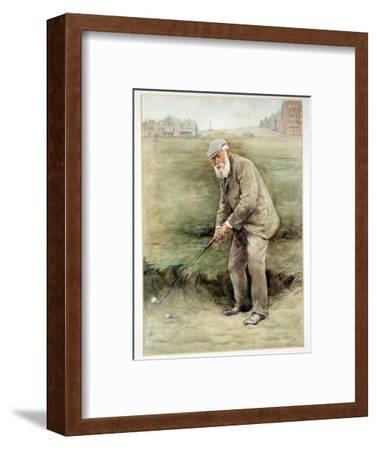 Tom Morris senior, British golfer, portrait, c1910-Unknown-Framed Giclee Print